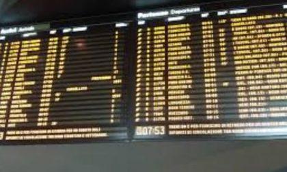 Sciopero dei treni in Lombardia lunedì