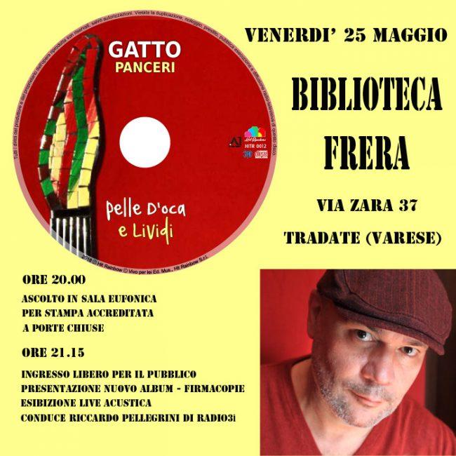 Gatto Panceri in Frera a Tradate col suo nuovo cd
