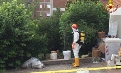 Sostanze tossiche in città, intervento dei Vigili del Fuoco FOTO