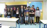 Presidente Consiglio comunale Saronno saluta i ragazzi di terza media