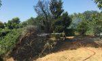 Incendio a Casorezzo: fiamme nell'area della vasca volano