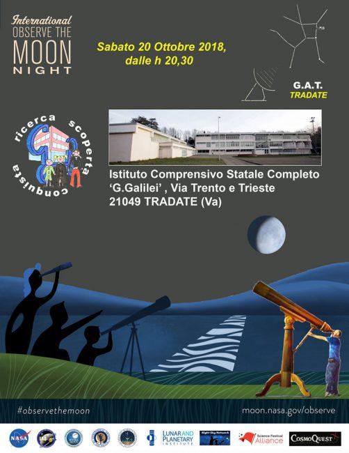 Il Gat alla scuola Galilei di Tradate per la notte della Luna