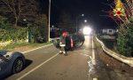 Perde il controllo dell'auto e si ribalta, 38enne in ospedale