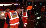 Ribaltamento a Caronno Pertusella, illesi i due giovani a bordo