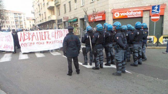Telos in piazza a Saronno, contro il Governo e in solidarietà con gli anarchici torinesi