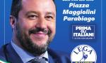 Lega Parabiago in piazza a sostegno di Salvini