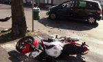Scontro auto moto: coinvolti due giovanissimi FOTO