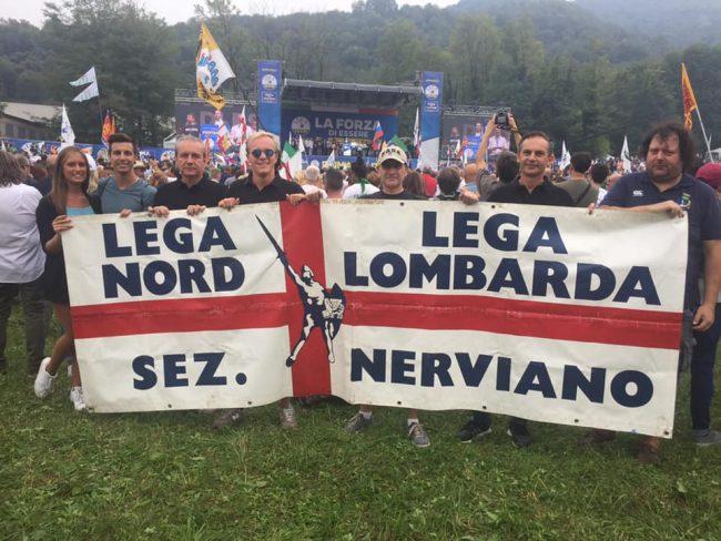 Anche la Lega nervianese presente al tradizionale raduno di Pontida