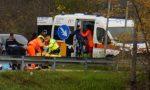 Gravissimo incidente tra auto e moto, arriva l'elisoccorso FOTO