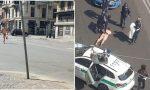 Nudo in corso Buenos Aires: fermato dalla polizia locale VIDEO e FOTO