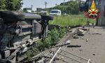 Auto si ribalta in Varesina, sul posto anche l'elisoccorso