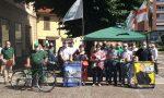 Lega Saronno in piazza contro le cartelle esattoria di Equitalia