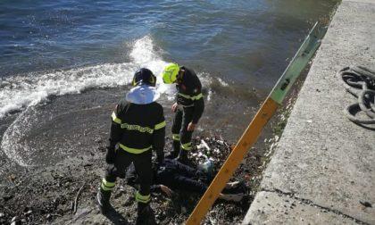 Dal lago di Como emerge il cadavere di una donna: indagini in corso