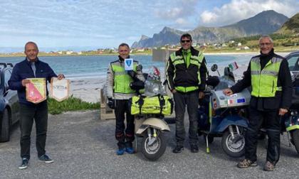 Da Solaro a Capo Nord, i tre vespisti ce l'hanno fatta