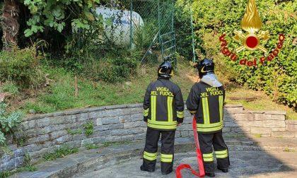Fuga di gas da un serbatoio cisterna a Luino FOTO