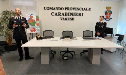 presentazione nuovi certici dell'Arma provinciale, il comandante Piasentin e il capitano Putortì