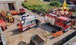 Operaio cade dal tetto di un edificio a Besozzo, Vigili del Fuoco sul posto