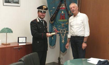 Il Capitano dei carabinieri Laghezza a Cislago: ultimo saluto prima del trasferimento