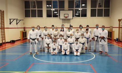 Gli atleti del Buson Karate tornano ad allenarsi in palestra