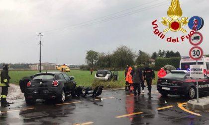 Scontro tra due auto a Gerenzano atterra l'elisoccorso