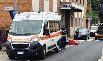 Incidente in Varesina tra auto e scooter, elisoccorso a Locate  FOTO