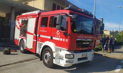 Incendio a Gorla Minore, Vigili del Fuoco in via Garibaldi