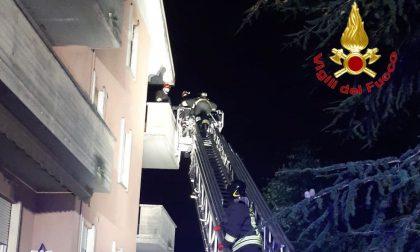 Appartamento in fiamme a Cassano Magnago
