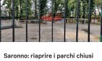 Saronno, petizione online per riaprire i parchi cittadini