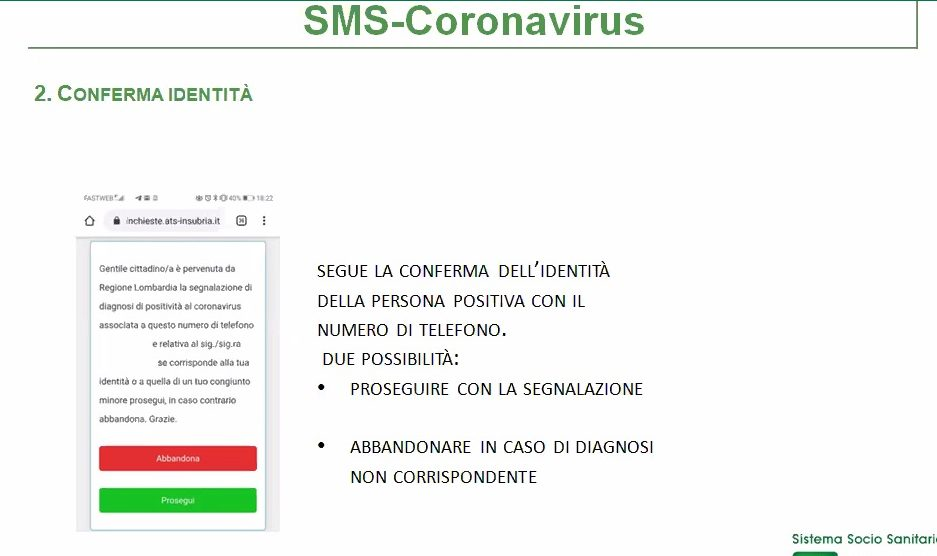 tracciamento covid sms ats insubria
