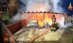 Ceriano Laghetto, maxi incendio in via Copernico arrivano i pompieri FOTO