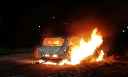 Auto in fiamme a Tradate, illeso il conducente: uscito in tempo FOTO