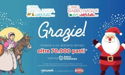 70mila pasti in regalo grazie a Netweek e alle vostre letterine a Babbo Natale