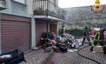 Incendio in un box a Saronno, arrivano i Vigili del Fuoco FOTO