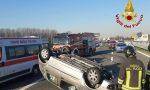 Incidente in A9, auto ribaltata fra Origgio e Uboldo: donna ferita FOTO