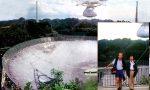 Il collasso distruttivo del radio-telescopio di Arecibo che il Gat visitò nel 1998