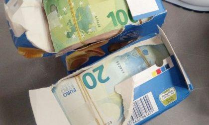Nella pasta 70mila euro in contanti: sequestro a Malpensa