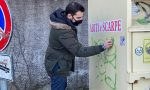Graffiti a Varese, pulizie di primavera coi ragazzi della Lega Giovani