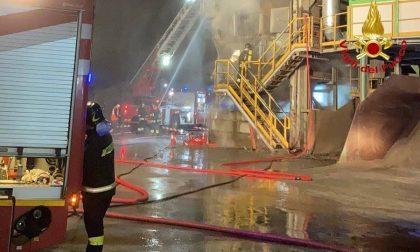 Incendio nella vetreria di Gerenzano