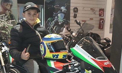 Gerenzano, Valentino gareggia con una nuova moto