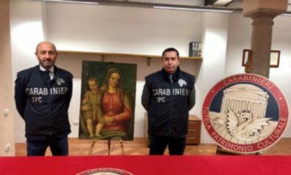 Recuperata dai Carabinieri una Madonna con Bambino del Cinquecento
