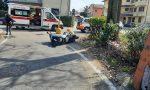 Incidente tra via Sciesa e via Monte San Michele, auto contro scooter