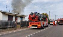 Incendio a Lonate, Vigili del Fuoco in via Campo dei Fiori