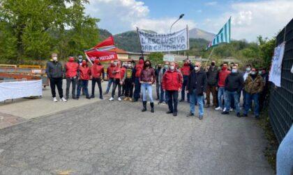 Crisi Mazzergrip oggi lavoratori in sciopero a Ponte Lambro