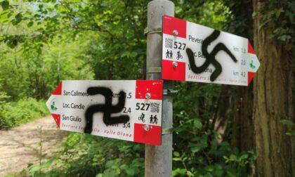 Svastiche sui nuovi cartelli del PLIS Insubria-Olona