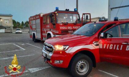 Macchinario a fuoco, Vigili del Fuoco in una ditta di Venegono