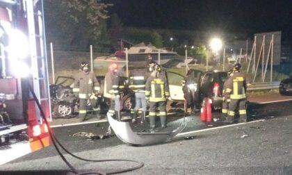 Brutto incidente sull'A 26 tra Sesto e Besnate, due persone sono gravi