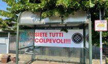 """Anziana violentata e derubata, striscione del Movimento Nazionale: """"Siete tutti colpevoli"""""""