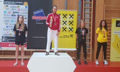 Karate, una saronnese medaglia d'argento all'Open d'Austria