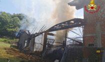 Incendio a Brinzio, in fiamme un capanno agricolo