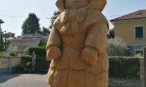 Ecco le statue in legno di via Tovo